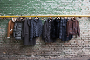 jackets hung on wall