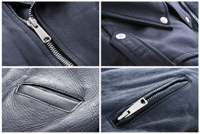 leather jacket pocket zipper and straps